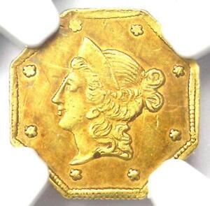 1854 Liberty California Gold Dollar G$1 BG-528 - NGC AU Details - Rarity-6 (R6)
