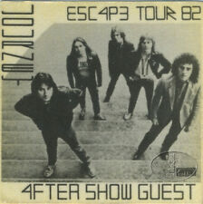 Journey 1982 Escape Tour Backstage Pass Aso Black