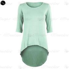 Maglie e camicie da donna maniche a 3/4 casual asimmetrici