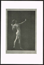 1910's Vintage Nude Dancer Arnold Genthe Pictorialist Dance Photo Print j