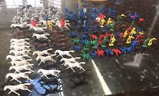 VINTAGE GIANT HONG KONG ROMANS BLUE AND GREY  AND HORSES TOY SOLDIERS 156 PIECES