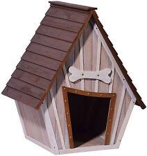 Große Hundehütte mit Spitzdach, Hundehaus Hundebox Wetterfest Holz XXL Outdoor