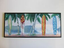 Surfboard Beach Wall Decor Plaque surfing sign surf board beach picture