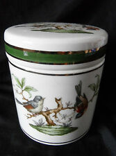 Sehr dekorative Keramik Dose mit Vogel Motiven Italien XX
