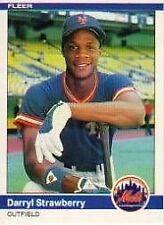 1984 Fleer Darryl Strawberry #599 Baseball Card