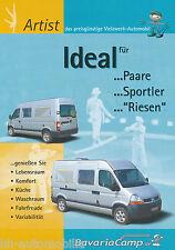 Prospekt Bavaria Camp Artist Reisemobil 2004 brochure motor caravan Autoprospekt