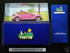 VOITURE TINTIN CAR ATLAS # 69 LE CABRIOLET ROSE FORD V8