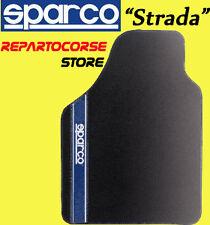 Set 4 Tappetini Tappeti Tuning SPARCO STRADA Blu per Alfa Romeo Mito