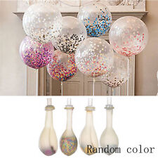 2Pc Latex Sequin Confetti Foam Fill Clear Balloon Celebration Party Decor Random