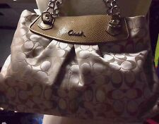 NEW!! Vintage COACH - F19161 - Gold Bag Purse Beautiful KHAKI $398