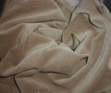 Antique 1920s Millinery Velvet Khaki Beige Velveteen 1+ yds Thin Supple