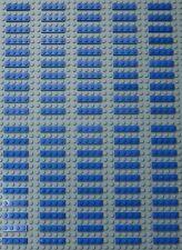100X LEGO BLUE PLATES 1X4 (#3710)