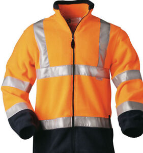 orange Warnschutzjacke Fleecejacke Arbeitsjacke Herren Größe XL Übergangsjacke
