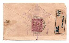 INDIA: Registered postal stationery Peshawar 1917.