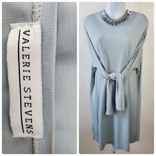 Valarie Stevens Size L Seafoam Green V Neck Tunic Dress