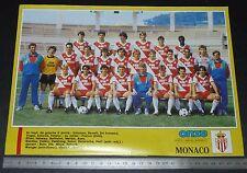 CLIPPING POSTER FOOTBALL 1987-1988 AS MONACO ROCHER ASM LOUIS II