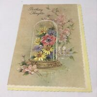Vintage 1950's Birthday Thoughts Greetings Card Ephemera Paper