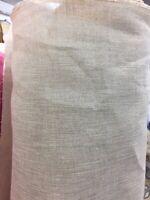 "Linen Gauze Natural 100% Pure Linen Fabric Stiff Finish 64"" Wide £6.99 /Metre"