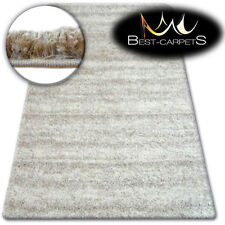 BEAUTIFUL VERY SOFT SHAGGY RUGS 'ZENA' ivory HIGH QUALITY FLUFFY CHEAP CARPETS