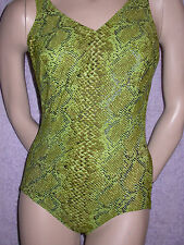 ♥ ULLA DESSOUS Badeanzug PALERMO grün 50 C o. Bügel NEU