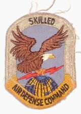 USAF SKILLED AIR DEFENSE COMMAND PATCH -- Air Force Eagle holding Lightning Bolt