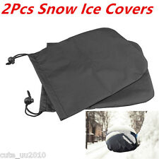 2X Car Side Mirror Auto Exterior Rear View Snow Ice & Frost Covers Set Protector