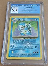1999 Pokemon Base Set Blastoise Unlimited 2/102 Holo Rare CGC 5.5 Graded Card