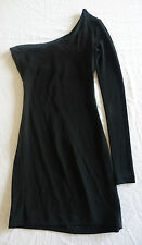 ~ $800 THE ROW BLACK ONE SLEEVE MINI DRESS (INSTANT COOL-GIRL STYLE!) ~  XS