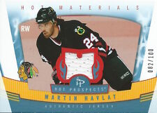 (HCW) 2006-07 Hot Prospects Materials Red Hot MARTIN HAVLAT 82/100 - 01705