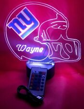 New York Giants NFL Football Light Up Lamp LED with Remote and Personalized Free