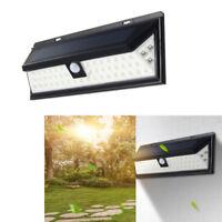 Lampe Solaire 54 Led Mur Extérieure Éclairage Luminaire Détecteur De Mouvement