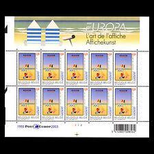 "Belgium 2003 - Europa Stamp ""Poster Art"" Vacations - Sc 1961a MNH"