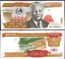 LAOS LAO 20000 20,000 KIP 2003 P 36 UNC LOT 5 PCS