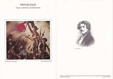 Document Philatélique Timbre 1er Jour : 04/01/ 1982 - Type Liberté Delacroix