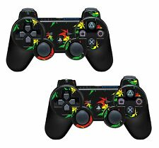 2x Weed Leaf Playstation 3 (PS3) Controller Sticker / Skin / 3ps17