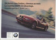 N°9526 / prospectus BMW Z3 Advantage texte français 1998
