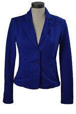 Women's Blazer Royal Blue XXI Button Up - Petite Size Medium Cotton Blend Tops