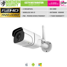 2MP HD WiFi Wireless POE SD-Card IR P2P Outdoor Security Network IP Camera