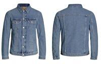 Jack & Jones Mens Denim Jacket Casual Regular Fit Jeans Shirts S, M, L, XL, 2XL