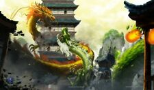 Max Pro Play Mat TROUBLE AT THE TEMPLE Dragon Invasion Image Playmat MTG Pokemon