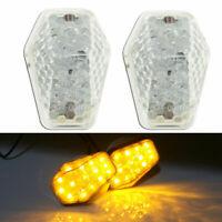 2X Flush Mount LED Turn Signal Light Indicators Blinker For Suzuki Motorcycle