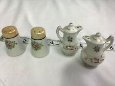 Vintage Estate Find -Salt & Pepper Collection -2 sets ceramic tea pots & Thimble