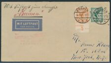 Katapultflug Dampfer Bremen 10.5.1931 ab Bremen nach New York (S18519)