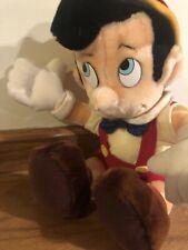 VTG W/ Tags Walt Disney World Disneyland Pinocchio Sitting Plush Toy Doll