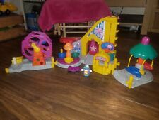 Fisher Price Little People Fairground With Rollercoaster/Car Ramp And Clown