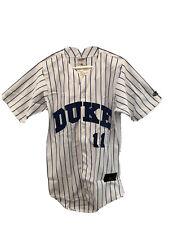NCAA Rawlings Duke Blue Devils 100% Polyester Baseball Jersey Size Small.