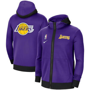 New 2020-2021 Los Angeles Lakers Authentic Showtime Therma Flex Full-Zip Hoodie