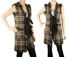 ConMiGo London CE110 elegant sleeveless check Jacket