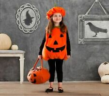POTTERY BARN KIDS UNISEX HALLOWEEN PUMPKIN COSTUME WITH PUMPKIN BASKET - 2T-3T