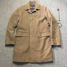BANANA REPUBLIC BR Mens Camel Color Moleskin Topcoat Jacket Sz MEDIUM